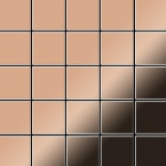 Mosaik Fliese massiv Metall Kupfer gewalzt in kupfer 1, 6mm stark ALLOY Century-CM 0, 5 m2