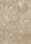 Präge Tapete Atlas STI-5102-2 Vliestapete geprägt in Lederoptik schimmernd beige perl-beige grau-beige seiden-grau 7, 035 m2