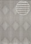 Grafik Tapete Atlas ICO-5074-1 Vliestapete glatt mit geometrischen Formen und metallischen Akzenten grau silber platin 7, 035 m2