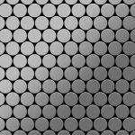 Mosaik Fliese massiv Metall Edelstahl marine gebürstet in grau 1, 6mm stark ALLOY Dollar-S-S-MB 0, 88 m2