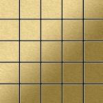 Mosaik Fliese massiv Metall Titan gebürstet in gold 1, 6mm stark ALLOY Century-Ti-GB 0, 5 m2