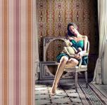 Streifen-Tapete EDEM 508-24 Hochwertige geprägte Tapete in Textiloptik und Metallic Effekt rot-braun perl-gold silber 5, 33 m2