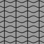 Mosaik Fliese massiv Metall Edelstahl gebürstet in grau 1, 6mm stark ALLOY Kismet & Karma-S-S-B Designed by Karim Rashid 0, 86 m2