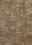 Präge Tapete Atlas STI-5101-4 Vliestapete geprägt in Lederoptik schimmernd braun grün-braun khaki-grau bronze 7, 035 m2