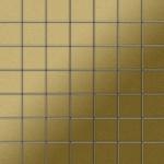 Mosaik Fliese massiv Metall Titan gebürstet in gold 1, 6mm stark ALLOY Attica-Ti-GB 0, 85 m2
