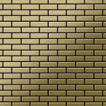 Mosaik Fliese massiv Metall Titan gebürstet in gold 1, 6mm stark ALLOY PK-Ti-GB 0, 88 m2