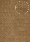 Stein-Kacheln Tapete Atlas INS-0805-2 Strukturtapete geprägt mit geometrischen Formen und Metallic Effekt bronze blass-braun oliv-braun 7, 035 m2