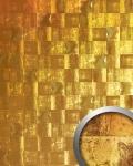 Wandverkleidung Vintage Look WallFace 19020 LUXURY HOLOGRAFICO Dekorpaneel glatt in Metall Optik holographisch selbstklebend gold 2, 6 m2