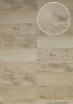 Stein-Kacheln Tapete Atlas ICO-5072-4 Vliestapete glatt mit Natur-Mustern schimmernd beige hell-elfenbein grau-beige 7, 035 m2