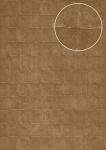 Stein-Kacheln Tapete Atlas INS-5080-2 Strukturtapete geprägt mit geometrischen Formen und Metallic Effekt bronze blass-braun oliv-braun 7, 035 m2