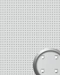 Wandpaneel Wandplatte WallFace 10053 3D QUAD Quadrat Dekor Design selbstklebend silber | 2, 60 qm