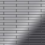 Mosaik Fliese massiv Metall Edelstahl hochglänzend in grau 1, 6mm stark ALLOY Avenue-S-S-M 0, 74 m2