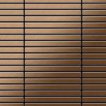Mosaik Fliese massiv Metall Titan gebürstet in kupfer 1, 6mm stark ALLOY Linear-Ti-AB 0, 94 m2