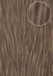 Tiermotiv Tapete Atlas STI-5103-3 Vliestapete geprägt in Felloptik schimmernd grau beige-grau schwarz-braun 7, 035 m2