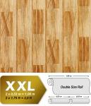 Holz Tapete Vliestapete EDEM 945-21 Geprägte Tapete in Holzoptik Dielen Römische Zahlen kiefer-gelb antik-gelb 10, 65 qm