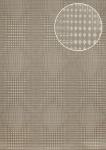 Grafik Tapete Atlas ICO-5074-6 Vliestapete glatt mit geometrischen Formen und metallischen Akzenten grau braun-grau bronze 7, 035 m2