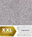 Uni Tapete EDEM 9076-25 Vliestapete geprägt in Spachteloptik und Metallic Effekt silber grau 10, 65 m2