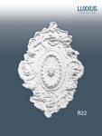 Stuckrosette Stuck Orac Decor R22 LUXXUS Rosette Zier Profil Classic antik floral wand Dekor weiß | 77 cm Durchmesser