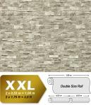 3D Stein Vliestapete EDEM 918-34 XXL geprägte Naturstein Bruchstein-Optik hochwertig hellgrau naturgrau 10, 65 qm