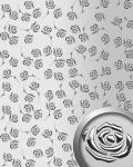 Dekorpaneel Rosen Dekor WallFace 13919 3D ROSE Blumen Design Paneel selbstklebend silber metallic | 2, 60 qm