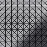 Mosaik Fliese massiv Metall Edelstahl hochglänzend in grau 1, 6mm stark ALLOY Deco-S-S-M 0, 92 m2