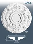 Deckenrosette Stuck Orac Decor R38 LUXXUS Rosette Decken Wand Dekor Element weiß hochwertig stabil | 71 cm Durchmesser