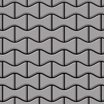Mosaik Fliese massiv Metall Edelstahl matt in grau 1, 6mm stark ALLOY Kismet-S-S-MA Designed by Karim Rashid 0, 86 m2