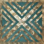 Wandpaneel Perlmutt Optik WallFace LU10 CAPIZ Dekorpaneel strukturiert mit Glasperlen glänzend bronze grün-blau beige 0, 2 m2