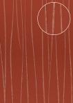 Edle Streifen Tapete Atlas COL-568-3 Vliestapete glatt Design schimmernd rot beige-rot 5, 33 m2