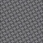 Mosaik Fliese massiv Metall Edelstahl matt in grau 1, 6mm stark ALLOY Swiss Cross-S-S-MA 0, 88 m2