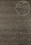Streifen Tapete Atlas 24C-5056-2 Vliestapete glatt mit grafischem Muster und Metallic Effekt braun bronze beige-grau 7, 035 m2