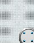 Wandpaneel Wandplatte WallFace 10050 3D QUAD Quadrat Dekor Design selbstklebend silber blau | 2, 60 qm
