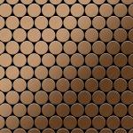 Mosaik Fliese massiv Metall Titan gebürstet in kupfer 1, 6mm stark ALLOY Dollar-Ti-AB 0, 88 m2