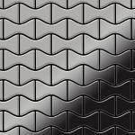 Mosaik Fliese massiv Metall Edelstahl hochglänzend in grau 1, 6mm stark ALLOY Kismet-S-S-M Designed by Karim Rashid 0, 86 m2