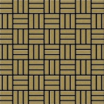 Mosaik Fliese massiv Metall Titan gebürstet in gold 1, 6mm stark ALLOY Basketweave-Ti-GB 0, 82 m2
