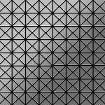 Mosaik Fliese massiv Metall Edelstahl gebürstet in grau 1, 6mm stark ALLOY Deco-S-S-B 0, 92 m2