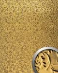 Wandpaneel Luxus 3D WallFace 14267 FLORAL Dekor Barock Blumen selbstklebende Tapete Belag Wandverkleidung gold | 2, 60 qm