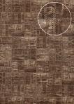 Präge Tapete Atlas STI-5101-6 Vliestapete geprägt in Lederoptik schimmernd grau braun-grün granit-grau umbra-grau 7, 035 m2