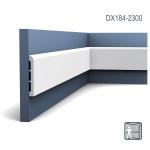 Türumrandung Orac Decor DX184-2300 AXXENT CASCADE Sockelleiste Wandleiste Modernes Design weiß 2, 3m