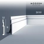 Sockelleiste Orac Decor SX181 MODERN HIGH LINE Zierleiste Fußleiste Modernes Design weiß 2m