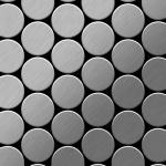 Mosaik Fliese massiv Metall Edelstahl marine gebürstet in grau 1, 6mm stark ALLOY Medallion-S-S-MB 0, 73 m2