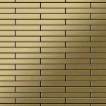Mosaik Fliese massiv Metall Titan gebürstet in gold 1, 6mm stark ALLOY Deedee-Ti-GB 0, 63 m2