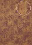 Ton-in-Ton Tapete Atlas ATT-8115-3 Vliestapete strukturiert mit Rauten Muster schimmernd rot violett bronze 7, 035 m2