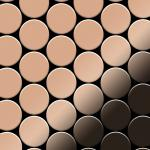 Mosaik Fliese massiv Metall Kupfer gewalzt in kupfer 1, 6mm stark ALLOY Medallion-CM 0, 73 m2