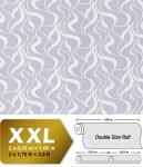 Grafik Tapete Vliestapete EDEM 699-96 Abstrakte Streifen Wellen geschwungene Linien hell-grau natur-weiß 10, 65 qm