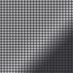 Mosaik Fliese massiv Metall Edelstahl hochglänzend in grau 1, 6mm stark ALLOY Glomesh-S-S-M 1, 07 m2