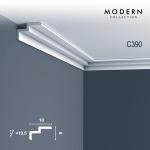 Eckleiste Orac Decor C390 MODERN STEPS Indirekte Beleuchtung Zierleiste Modernes Design weiß 2m