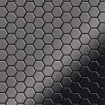 Mosaik Fliese massiv Metall Titan hochglänzend in dunkelgrau 1, 6mm stark ALLOY Honey-Ti-SM 0, 92 m2