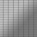 Mosaik Fliese massiv Metall Edelstahl gebürstet in grau 1, 6mm stark ALLOY Cabin-S-S-B 1, 01 m2