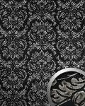 Wandpaneel Vintage Barock WallFace 14800 IMPERIAL Damask selbstklebende Tapete Deko Wandbelag schwarz grau | 2, 60 qm
